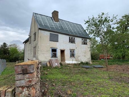 An old farmhouse.